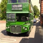 green vintage bus journey with Chigwell Tours steam train tour