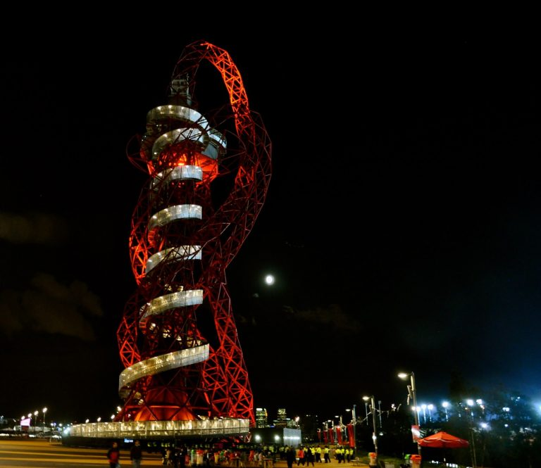 Christmas Views of London: The Arcelormittal Orbit Tower Tour and Christmas with Lunch & Rollercoaster Slide