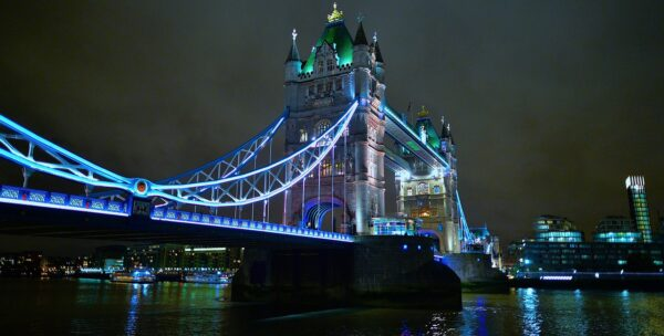 Tower bridge by night. Chigwell Tours